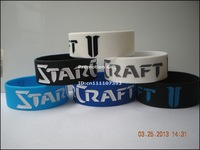 "1PC, Free Shipping StarCraft II Wristband, Silicon Bracelet, 1"" Wide Band, 6Colours, Adult Size"