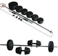 Coated dumbbells 50kg barbell 20kg barbell dumbbell set combination fitness equipment