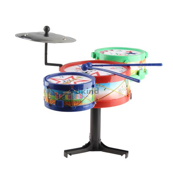 Çocuklar müzik aletleri oyuncak çocuklar renkli plastik davul seti