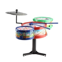 Children Musical Instruments Toy Kids Colorful Plastic Drum Drum Kit Set BS1V