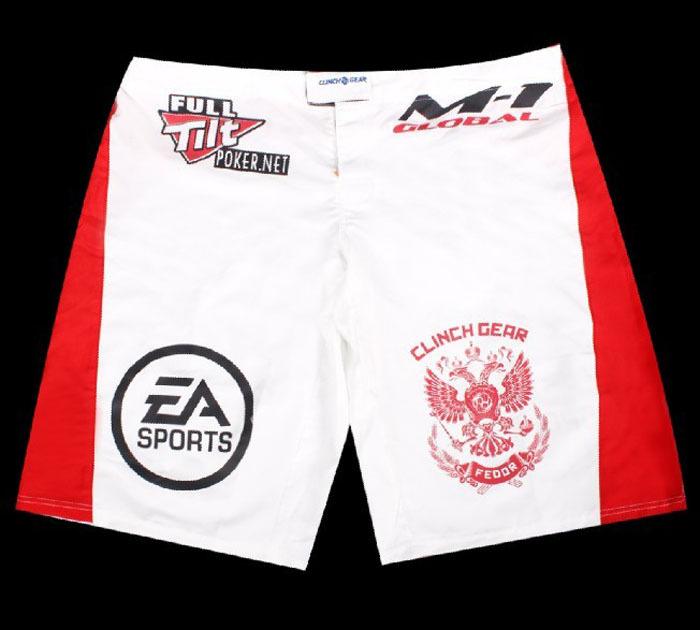 MMA white shorts men fighting gear boxing shorts free shipping(China (Mainland))