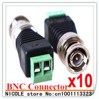 10pcs Coax CAT5 to BNC Male Coax Connector Coax for CCTV Camera