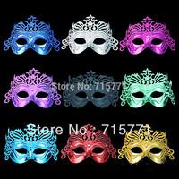 Free shipping masquerade mask half masks Crown Motif powder Halloween Mask women masks venetian