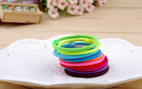 Child ultra elastic neon apron adult candy color  rope rubber band tousheng hair accessory Free shipping