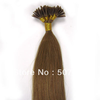 "18"" Keratin Stick Remy Hair I Stick I Tip Human Hair Extensions 100s/pack # 12 light golden 0.5g/s"