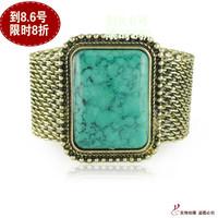 Free shipping Square gem bracelet female vintage bracelet fashion accessories brief wide bracelet jewelry  Min order$10