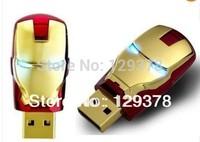 Free Shipping Gift USB Flash Drive Iron ManHead Shape Boy's Birthday Gift USB Flash Drive 1G 2G 4G 8G 16G 32G Gift USB Drive