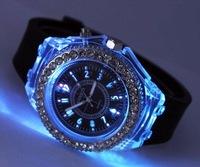 VG 20046  flash Silicone watch geneva watch ! fashion  gift watch, mix bulk  low price   free shipping