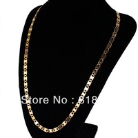 Free Shipping Great Gold Plated 58cm 5mm  316L Stainless Steel Women's Necklace For Party