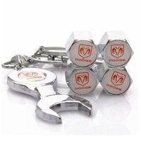 10pec Dodge Tire Valve Caps with Wrench Keychain Free Shipping