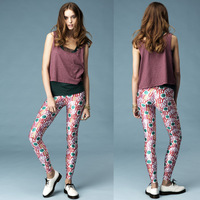 New Hot sale Womens all you need is lovelysally flowerier colorful letter print legging  CPAM