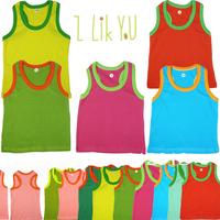 SALE! lovely sleeveless Vest Tops baby boy/girls' summer 100% cotton T shirts 2014 kids' children clothing top 0-24M