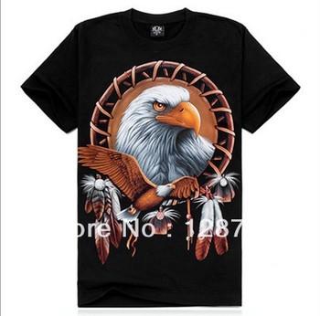 Free shipping, High Quality Man's 100% Cotton short sleeve T-shirt 3D printing. Print Animal Wolf shirt NZ07003