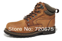 camel winter men snow boots riding work outdoor casual shoes High quality crazy-horse leather A slip resistant rubber outsole D