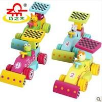 Heathy children animal racing car building blocks, funny kids toy brick model Building Kits, bear/cat/rat/frog + free shipping
