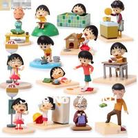 Free Drop Shipping,New PVC Box-Packed Cute Chi-bi Maruko,Action Toy Figure,High Quality Japanese Anime,14PCS/SET