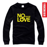 Free shipping Eminem no love male women's sweatshirt