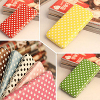 Hot-selling women's wallet candy color dot long design boxes wallet card holder korea case wallets clutch  purse