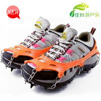 2015 strengthen edition crampon chain non-slip rubber shoes orange