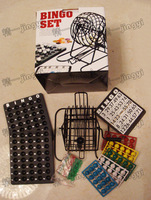 Bingo Set Bingo cage with 75 ball game Bingo with 18 pcs Bingo cards
