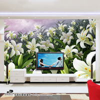 Custom size wallpaper Mural wallpaper tv bedroom wall sofa wall lily flower bh296