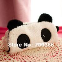 New 2014 korea stationery panda plush pencil case big capacity storage bag