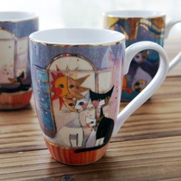 free shipping Goebel the moon cat mug coffee cup ceramic cup glass