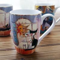 free shipping Goebel the moon cat mug coffee cup ceramic cup glass