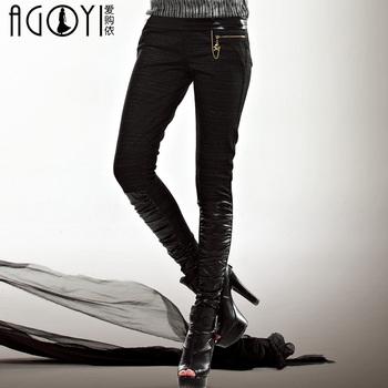 2013 spring women's casual long trousers female plus size skinny pants mk908