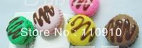 Mixed Order Stock Price Free Shipping  Kawaii Colorful Bun  PVC Phone Charms Straps 40pcs/lot
