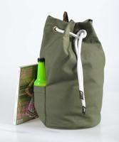 Hot popular pull rope shoulders backpack canvas bucket bag leisure backpack