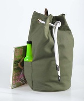 Hot popular pull rope shoulders backpack canvas bucket bag leisure backpack