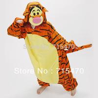 Cute Animals Adult Romper Pajamas Jumping Tigger pattern Costume Pyjamas Onesies,Tigger Unisex Pajamas Adult Cosplay Costume