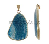 Free shipping!!!Agate Jewelry Pendants,hot sale, Blue Agate, Mixed Shape, natural, 25.5-47mm, Hole:Approx 5-8mm, 20PCs/Lot