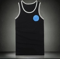 Free shipping xxxl 4xl clothing t-shirt summer sleeveless T-shirt 100% male cotton casual V-neck plus size plus size t-shirt