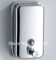 free shipping 304 stainless steel  bathroom accessories liquid soap dispenser(500ml)