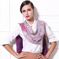 Free shipping Gem butterfly wool scarf women's scarf long design print cape charm