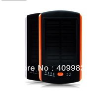 free shipping 6000mah solar power bank portable charger  Dube USB output for iphone ipad ipod psp mp3 mp4 samsung htc