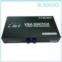 2 Port Manual VGA Switch Box 2 Way SVGA Monitor TFT/ CRT/ LCD