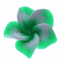Free shipping!!!Polymer Clay Beads,Sexy jewelry, Flower, 17x15x8mm, Hole:Approx 1mm, 100PCs/Bag, Sold By Bag