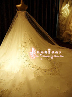 2013 High Quality Luxury Wedding Veils Custom big train Bridal Veils 300cm Free shipping