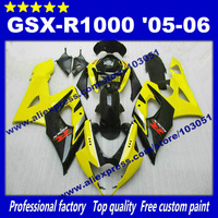 Bodywork Fairings for SUZUKI GSX-R 1000 05 06 GSXR1000 2005 GSX R1000 2006 K5 glossy yellow black fairing set AP40+7 gifts