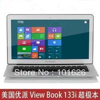 100% guarantee original View Sonic ViewBook air 133i 13.3 inches Intel Celeron 1037U 1.8GHz 2G 64G SSD HDMI Laptops WIN7 camera
