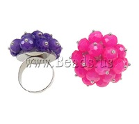 Free shipping!!!Crystal Finger Ring,Fashion Jewelry in Bulk, Iron, with Crystal, platinum color plated, colorful plated