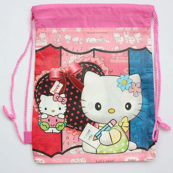 Hellokitty & hearts Storage Bags 60pcs shoe bag shoe pouch gift bag, drawstring bag shoulderbag Free shipping(China (Mainland))