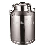 Thickening stainless steel milk bucket milk tea bucket sealed bucket outdoor tea-urn leak-proof storage bucket