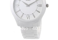 free shipping NEW Mens Super slim White Ceramica Watch AR1442 Original box +Certificate