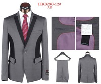 Free shipping!!! 2013 high quality one button the business gentleman suit married wedding fashion casual overalls sets
