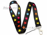 Free Shipping Vibrant Women's Multi Star-Shaped neck lanyard Charm holders Lots