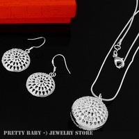 925 Set - S078 / Sterling silver Necklace+Earring ,925 silver jewelry set  for women necklaces and drop earring ,Free shipping
